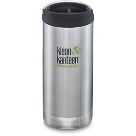 Klean Kanteen TKWide Bidón con Tapa Café 355 ml Aislamiento al Vacío, Plateado